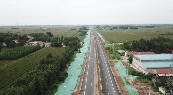 S102济青线章丘绕城段改建工程主线贯通